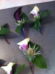 wedding flowers surrey wedding party buttonholes calla thistle wedding flowers