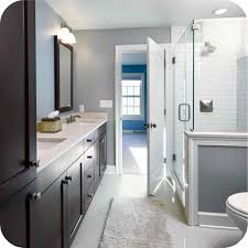 12x24 Tile In A Small Bathroom Walk In Shower Small Bathroom Idea With Frameless Hinged Shower
