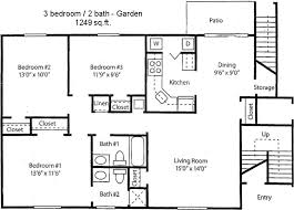 floor plans 3 bedroom 2 bath woodland hollow apartments floor plans