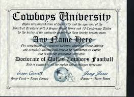 Armchair Quarterback Definition Nfl Dallas Cowboys Fan Must Have Certificate Diploma Man Cave Ebay