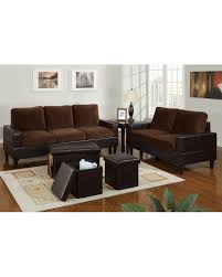 microfiber living room set bob kona 5 piece livingroom set in chocolate microfiber and