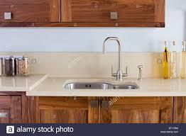 modern kitchen sets chrome mixer tap and under set stainless steel sink in modern
