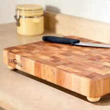 17 x 13 professional end grain cutting board with feet hayneedle