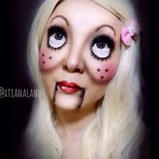 creepy doll costume scary doll makeup step by step pictures and