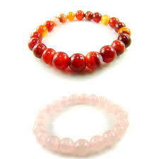 quartz crystal bracelet beads images 2set11 red agate wt banding rose quartz chakra crystal stretch jpg