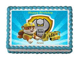 rubble cake topper paw patrol edible images icing images paw