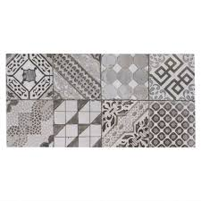 castel patchwork gray porcelain tile 12in x 24in 100211051