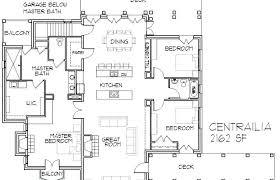 open concept bungalow house plans plans open concept ranch house plans