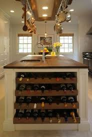 kitchen island wine rack kitchen island with built in wine rack butcher block countertop
