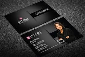 intero business cards designed for intero real estate agents