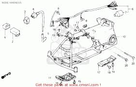 honda trx70 fourtrax 70 1986 g usa wire harness schematic