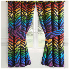 Zebra Shower Curtain by Rainbow Zebra Print Rod Pocket Curtains 07152100047km Kimlor