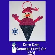 snow cone snowman craft for kids wikki stix