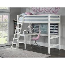 harriet bee felipe twin bunk with study loft u0026 reviews wayfair