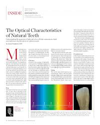 Synonyms For Light The Optical Characteristics Of Natural Teeth Pdf Download Available