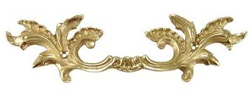 6 5 8 inch overall 3 1 2 inch c c solid brass ornate french