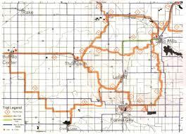 Map Of Cedar Falls Iowa Iowa Snowmobile Trails