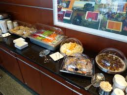 American Buffet Food by American Airlines Admirals Club Conc F Philadelphia