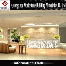 special spa reception desk with logo