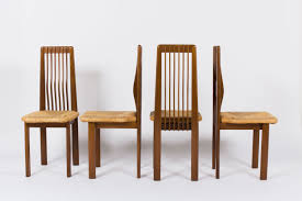 Chairs In Oak And Straw Italian Design  Set Of - Italian design chairs