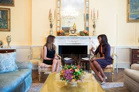 White House Interior Pictures by Melania Trump Wears All Black While Meeting With Michelle Obama At