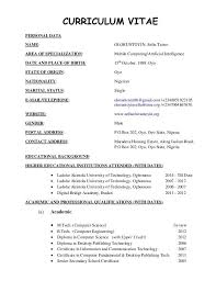 newest resume format resume or cv format curriculum vitae sle format free cv