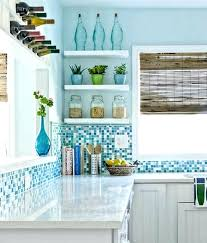 tiles blue green glass tile kitchen backsplash blue kitchen