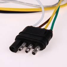 newest plug 4 to 7way car electrical trailer flat electrical