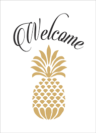 welcome pineapple stencil 8 sizes available create welcome signs