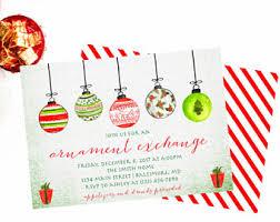 ornament invitation etsy