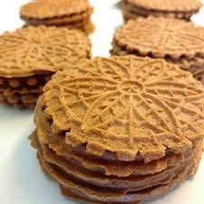 pizzelle with chocolate and nuts christmas cookies pinterest