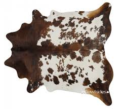 tricolor brazilian cowhide rug large