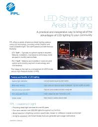 fpl street light program fpl has a new led street light tariff which allows the village to