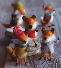 foxy friends tree ornaments set of 5 nova68