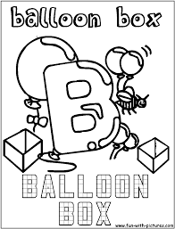 educational coloring pages for kids b for balloon box alphabet b pinterest balloon box