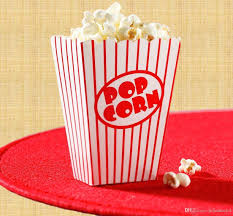 2018 movie party popcorn boxes striped white and red popcorn bags