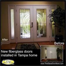glass door tampa installation of new front entry doors archives the glass door store