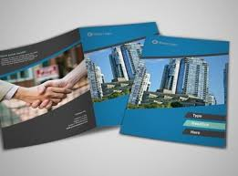 simple real estate a4 bi fold brochure template