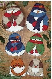 rachels of greenfield snow folk ornaments felt