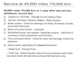 what is done for the 50k mile maintenance service audiworld forums