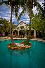 architecture boulders and big trees also island backyard with