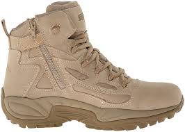 reebok military rapid response 6in side zip boots men u0027s shoes