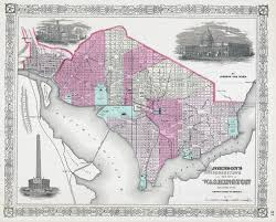 United States Map Washington Dc by Large Detailed Old Streets Map Of Washington D C U2013 1866 Vidiani