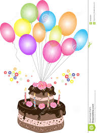 birthday chocolate cake with balloon stock vector image 56929959