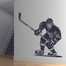 sports wall decals bring inspiration to your boy s bedroom 28 nhl wall stickers front hockey player sports wall art with regard