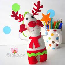 felt reindeer ornament ornament pattern baby