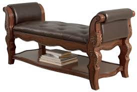 Upholstered Benches Upholstered Bench In Brown B705 09