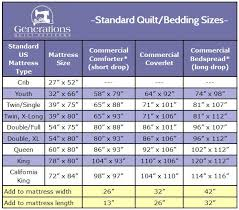 Size Of Standard Crib Mattress Standard Quilt Sizes Chart King Crib And More