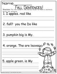 sentence scrambles free printable cut and paste worksheets for