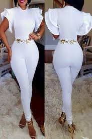 all white jumpsuits s jumpsuits rompers v neck lace more modishshe